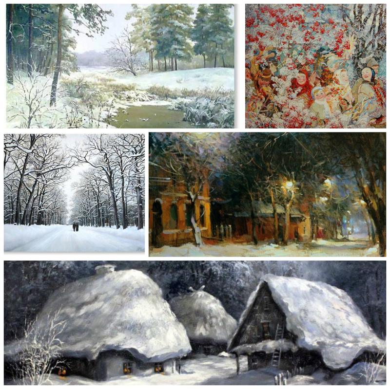 30 неймовірних шедеврів українських художників, що змусять полюбити зиму