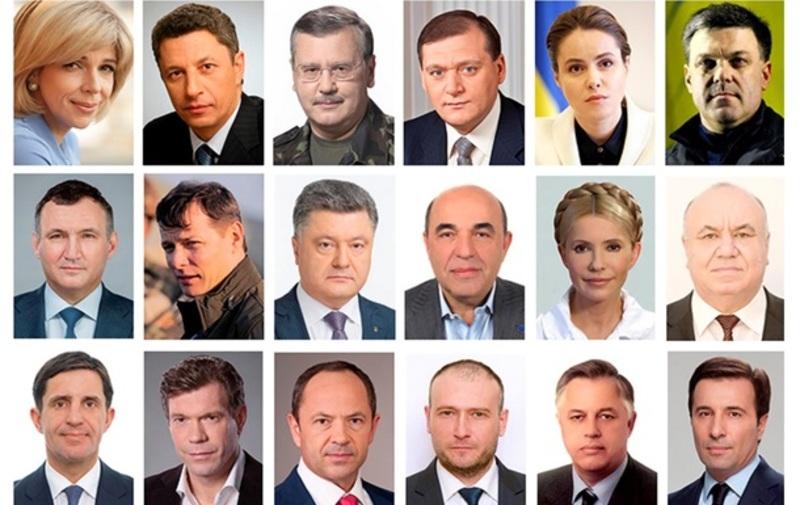 Як виглядає рейтинг кандидатів у президенти України