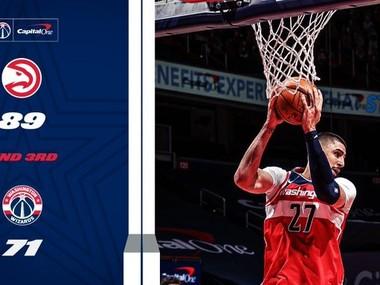 """Українець став найкращим за підбираннями БК """"Вашингтон"""" у грі НБА"""