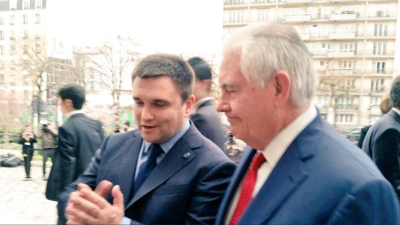 Klimkin, Tillerson meet in Paris