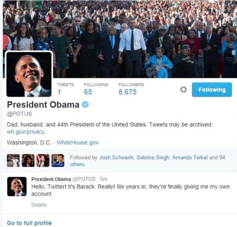 З Президентом США відтепер можна поспілкуватися в Твітері