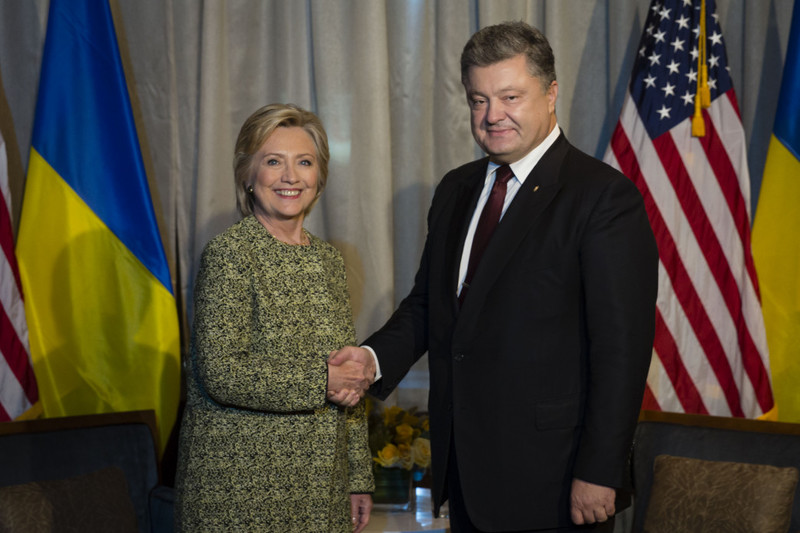 Петро Порошенко зустрівся з Гілларі Клінтон