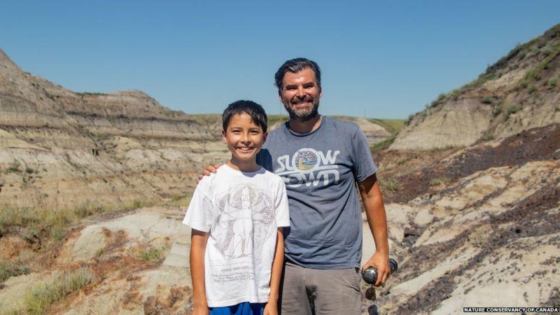 У Канаді 12-річний хлопчик знайшов скелет динозавра