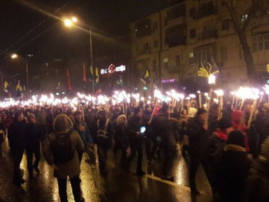 Torchlight processions commemorating Battle of Kruty held in Ukraine today