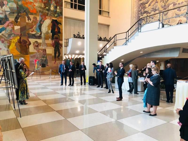 У штаб-квартирі ООН відкрилася виставка української художниці
