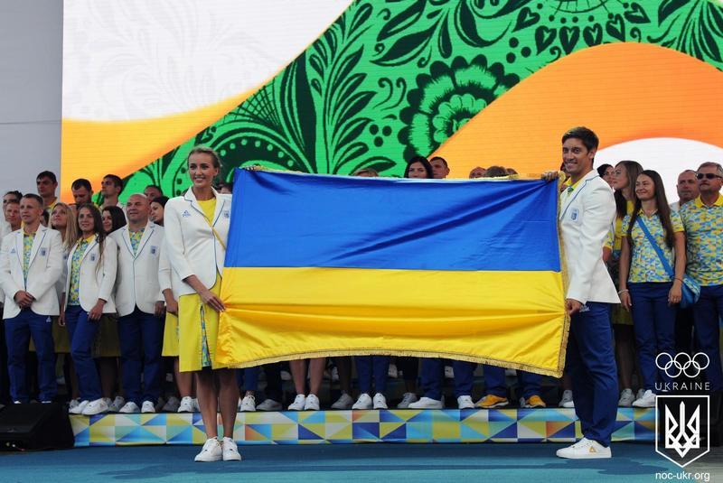В Олімпійському селищі піднято прапор України (відео)