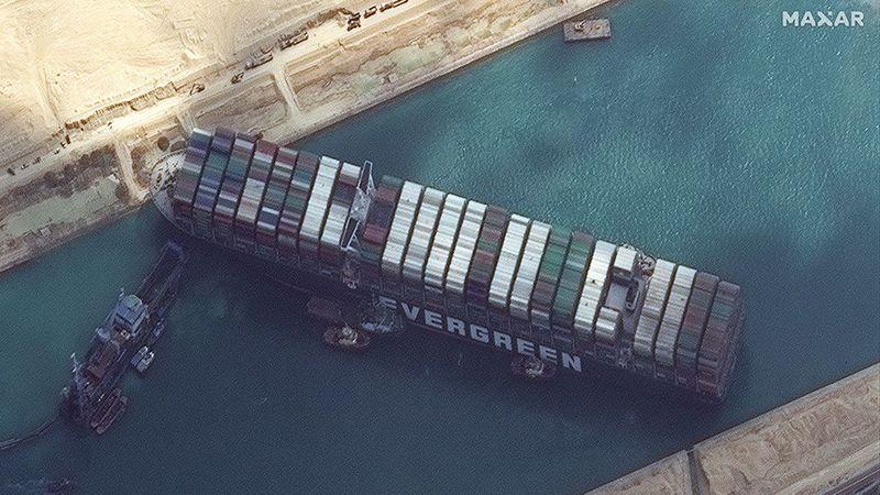 Через блокування Суецького каналу рівень забруднення діоксидом сірки зріс уп'ятеро
