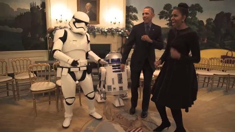 Танець Обами і персонажів Зоряних війн підірвав Facebook (відео)