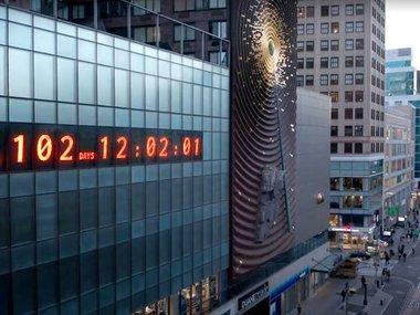 У Нью-Йорку встановили таймер відліку днів до початку кліматичної катастрофи