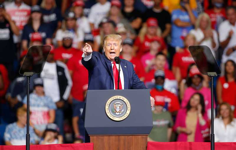 Президент Трамп помітингував у штаті Пенсильванія