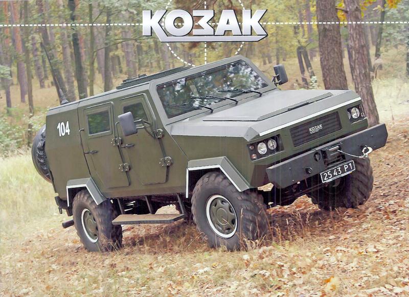 """США надали прототип сконструйованого в Україні бронеавтомобіля """"Козак"""""""
