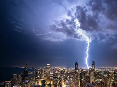 У Чикаго пронісся потужний шторм