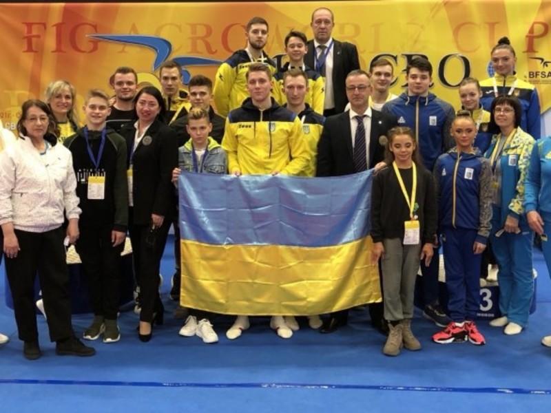 Українці вибороли кілька медалей Кубку світу зі спортивної акробатики