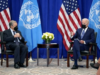 Джо Байден зустрівся з генсеком ООН Антоніу Гуттерішем