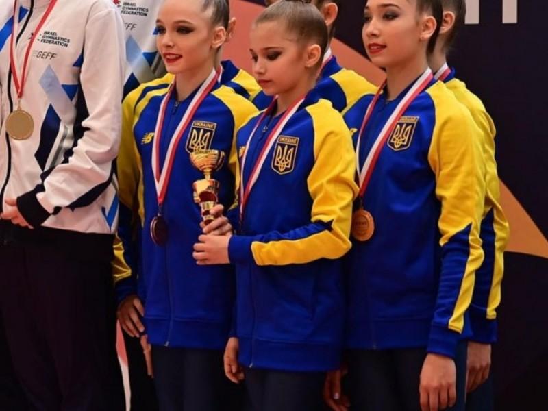 Збірна України виборола три медалі на турнірі з гімнастики