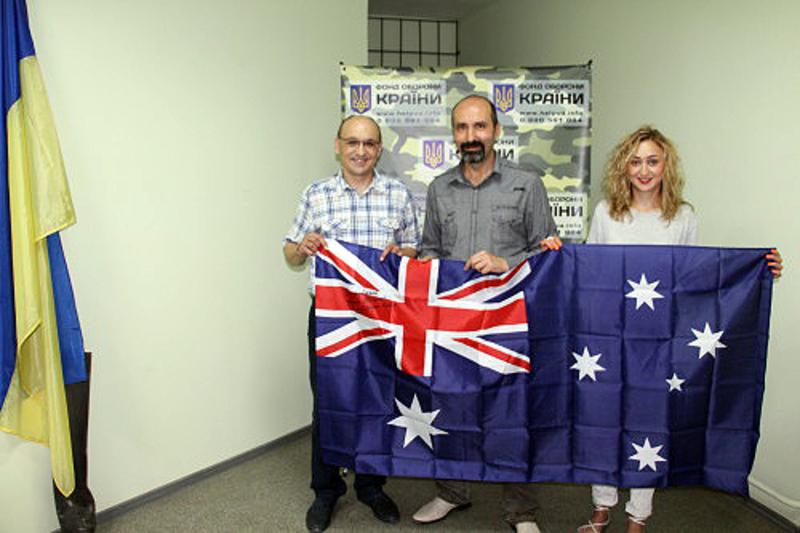 Діаспора Австралії привезла кошти для бійців АТО