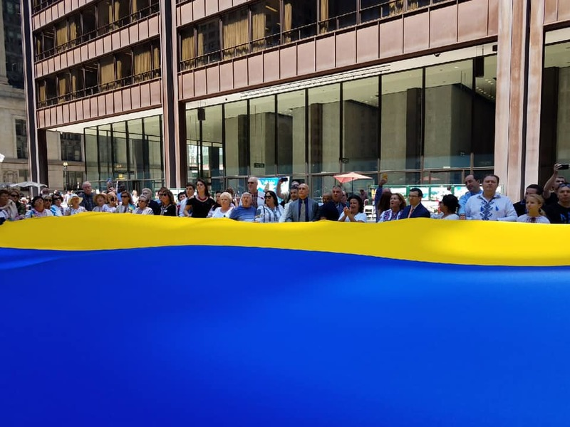 Українські святкування у Чикаго: державний прапор України знов замайорів у серці Середнього Заходу США